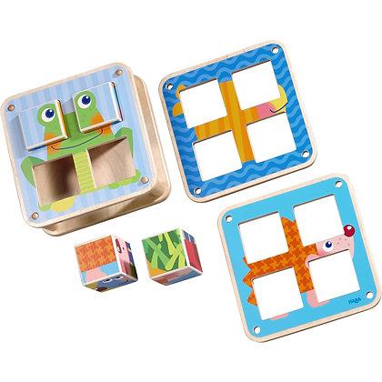 Cubes Puzzle Garden Animals (Haba 300554) 2yrs+