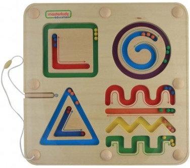 Lines and Shapes Magnetic Sliding Maze (Masterkidz ME10216)