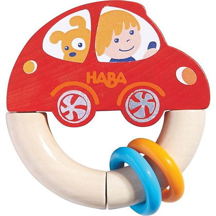Wooden Baby Rattle Red Racer (Haba 302156)