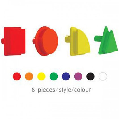 256 Piece Geometric Shape Pegs (8 Colours) - Pack I (Masterkidz ME14696)