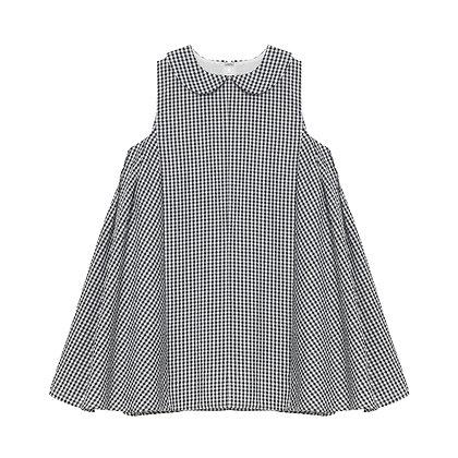 Layla Dress - Mono Gingham