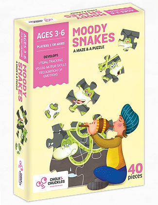 Moody Snakes (Chalk & Chuckles CCPPL031) 3 - 6yrs