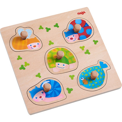 Clutching Puzzle - Colorful Animals (Haba 304589) 12m+