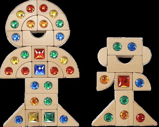 Gemstone Blocks 40 Piece Set (Masterkidz ME15228)