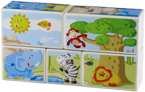 Picture Cubes Puzzle Zoo Animals(HABA 301202)
