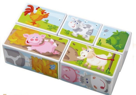 Picture Cubes Puzzle Farm Animals(HABA 301201)