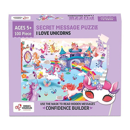 I Love Unicorns 100 Piece Puzzle (Chalk & Chuckles CCPPL088) 5yrs+
