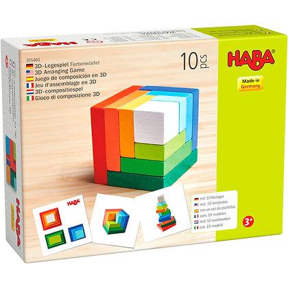 3D Arranging Game Rainbow Cube (Haba 305460)
