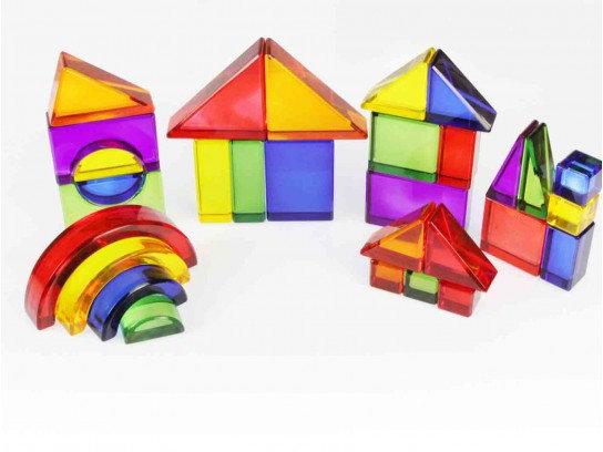 30 Piece Translucent Colour Block Set (Masterkidz ME06806) 3y+
