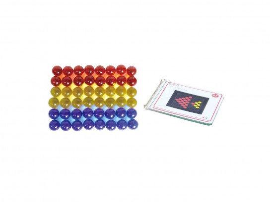 3 Colour Translucent Acrylic Balls 48 Piece Set (Masterkidz ME13040)