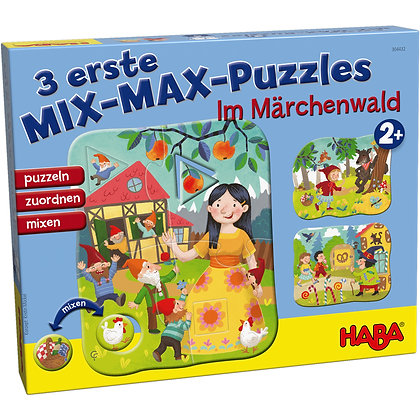 3 First Mix Max Puzzles – In the Fairytale Forest (Haba 304432) 2yrs+