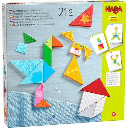 Arranging Game Funny Faces Tangram (Haba305777)