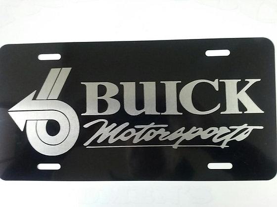 BUICK Motorsports Laser Engraved Plate