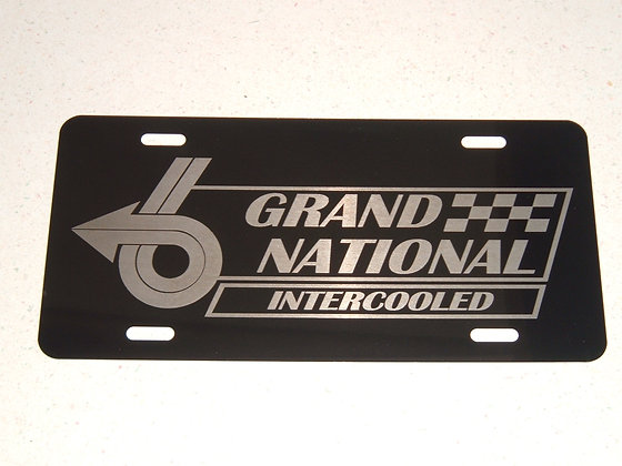 BUICK Grand National Engraved Plate