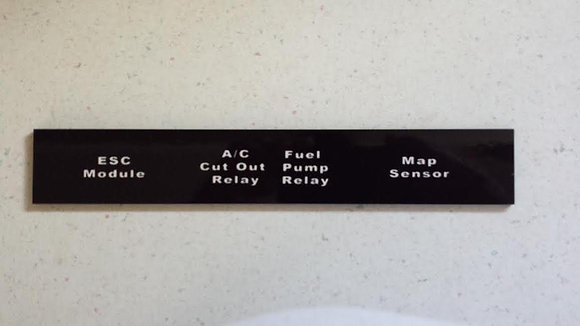 GNS Passenger Relay Name Plate