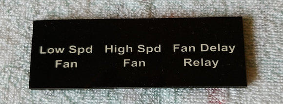 GNS Driver Side Relay Name Plate