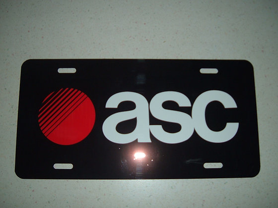 """GNS """"ASC"""" License Plate    #20330GNS"""