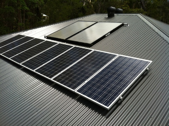 Solar hot water split system