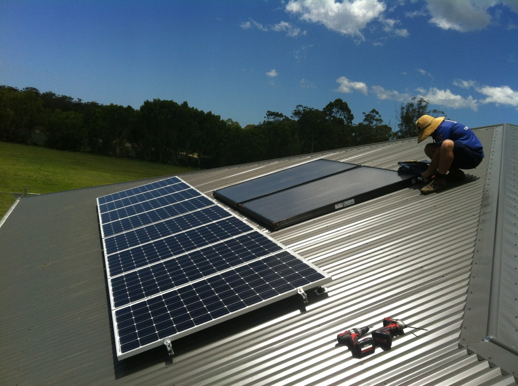 Solar Split System on a Tin Roof
