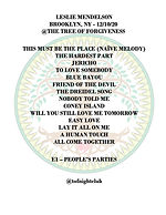 Setlist - Leslie Mendelson - 12-10-20 co