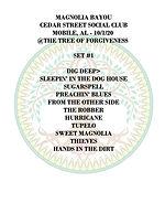 Setlist - Magnolia Bayou - 10-1-20 copy.