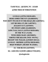 Tash Setlist 05-14-20