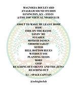 2021-02-25 - Magnolia Boulevard - Setlis