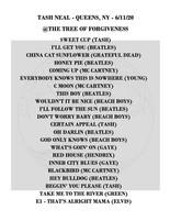 Tash Setlist 06-11-20