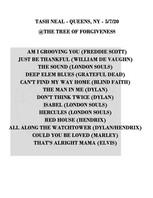 Tash Setlist 05-07-20