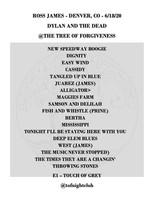 Ross James Setlist 06-18-20