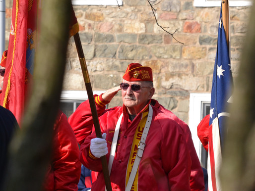 Honoring those who serve, at a Veterans Day event in Milford