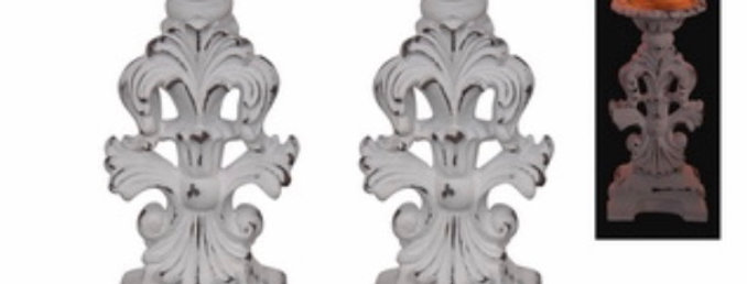 Sm Filigree Candle Holders