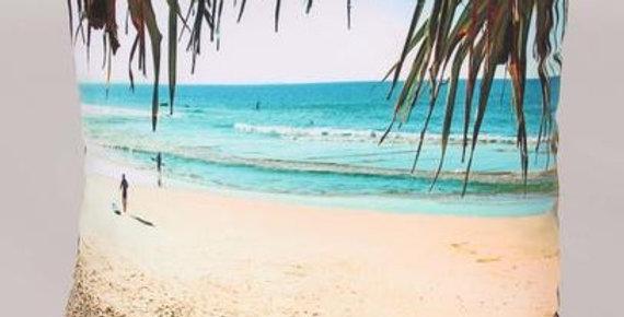 Caba Pandanus Beach Square Pillow