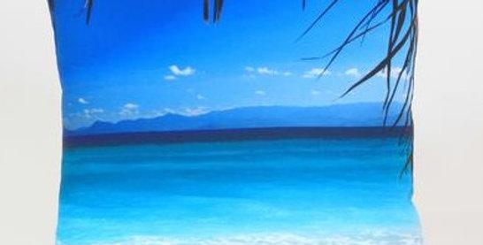 Tropical Beach Square Pillow