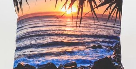 Caba Cove Sunrise Square Pillow