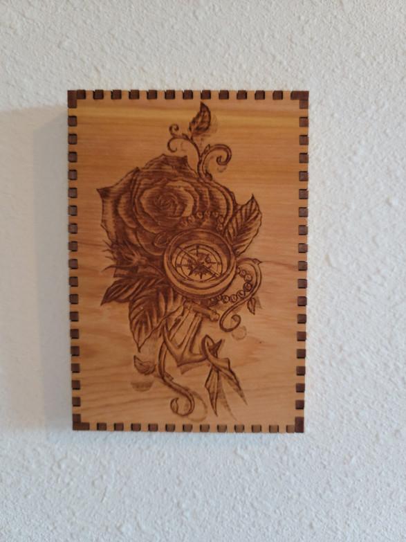 5 X 7 Compass Rose Anchor - Wall/Shelf Decor
