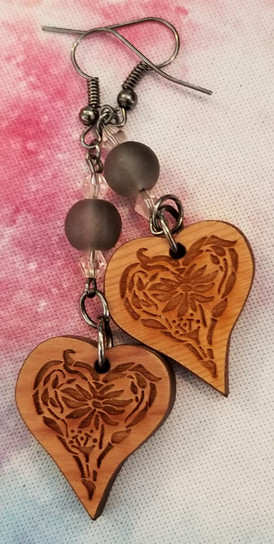 Celtic Hearts - Glass & Crystal Beads