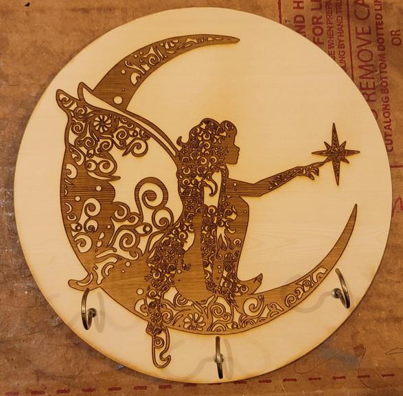 Moon Fairy Wall Mounted Key Hanger