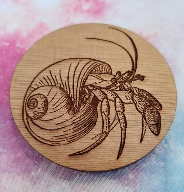 Mr Hermit Crab - Round Magnet