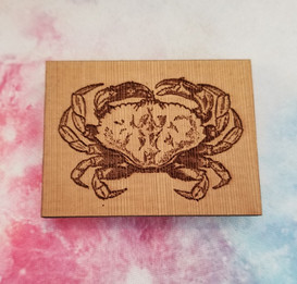 Crab - Square Magnet