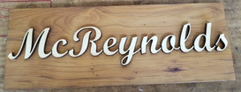 Family Name 5 X 15 3D Sign