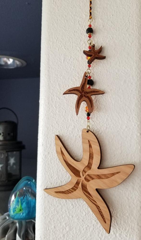 Sea Stars - 1'/2.5'/5' - Beaded & Braided $35.00