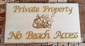 Octopus 5 X 15 - Private Property Sign