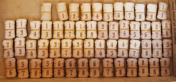 Back view of Full Dominos Set