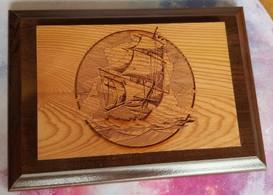 Ship 3 X 4 Plaque