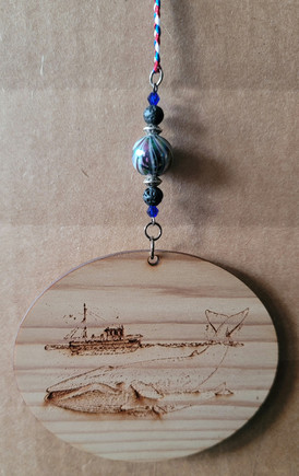 Boat/Whale 3' Oval - Beaded & Braided