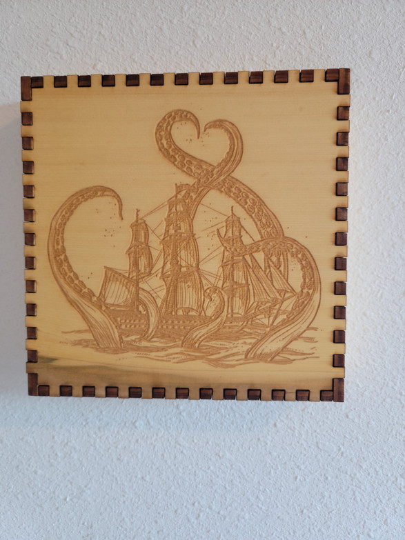 4.5 X 4.5 X 4.5 Kraken Sinking Ship - Wall/Shelf Decor