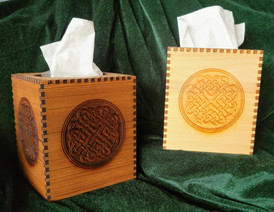 Celtic Love Knot Tissue Holders - Red & Yellow Cedar