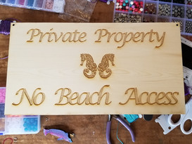 Double Seahorse 5 X 15 - Private Property Sign