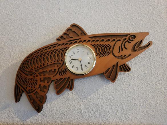 Salmon Shaped Clock